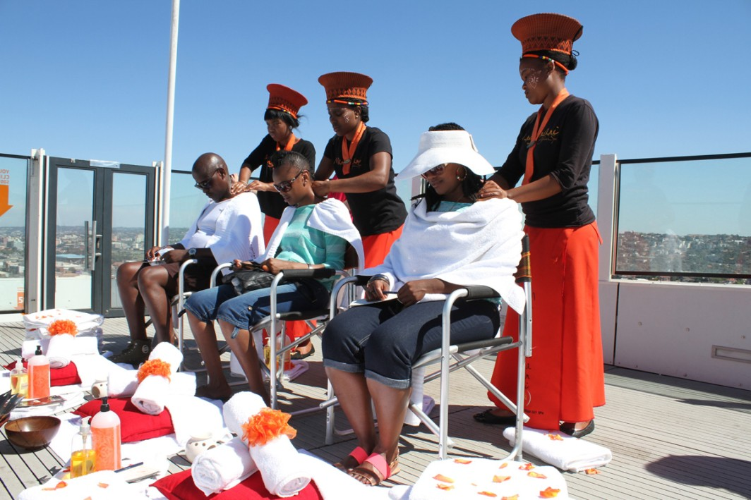 Mangwanani & Moses Mabhida Stadium present Spa in the Sky