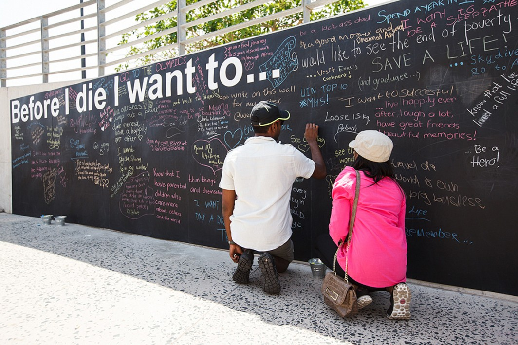 Before I Die Wall installation a huge success. Thank you Durban!